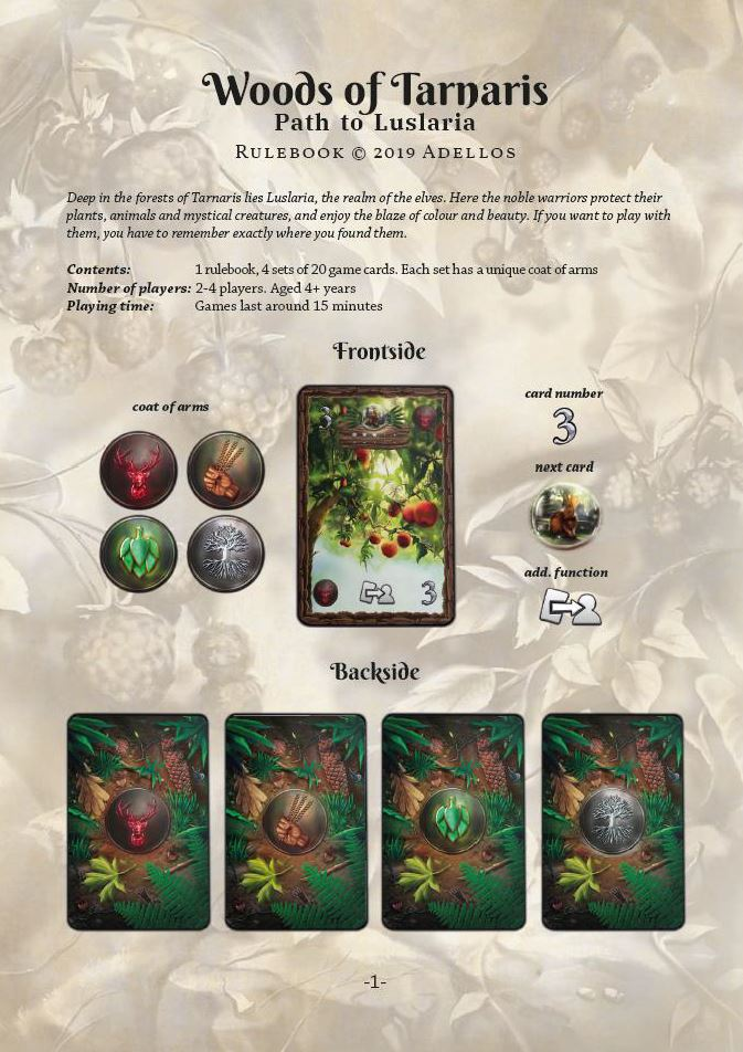 Rulebook Woods of Tarnaris deutsch